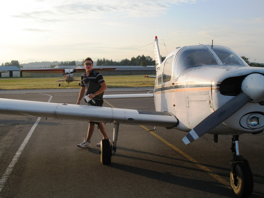 Brooklyn Anderson exist FKKF after completing his First Solo Flight on July 15, 2009.  Langley Flyinig School.