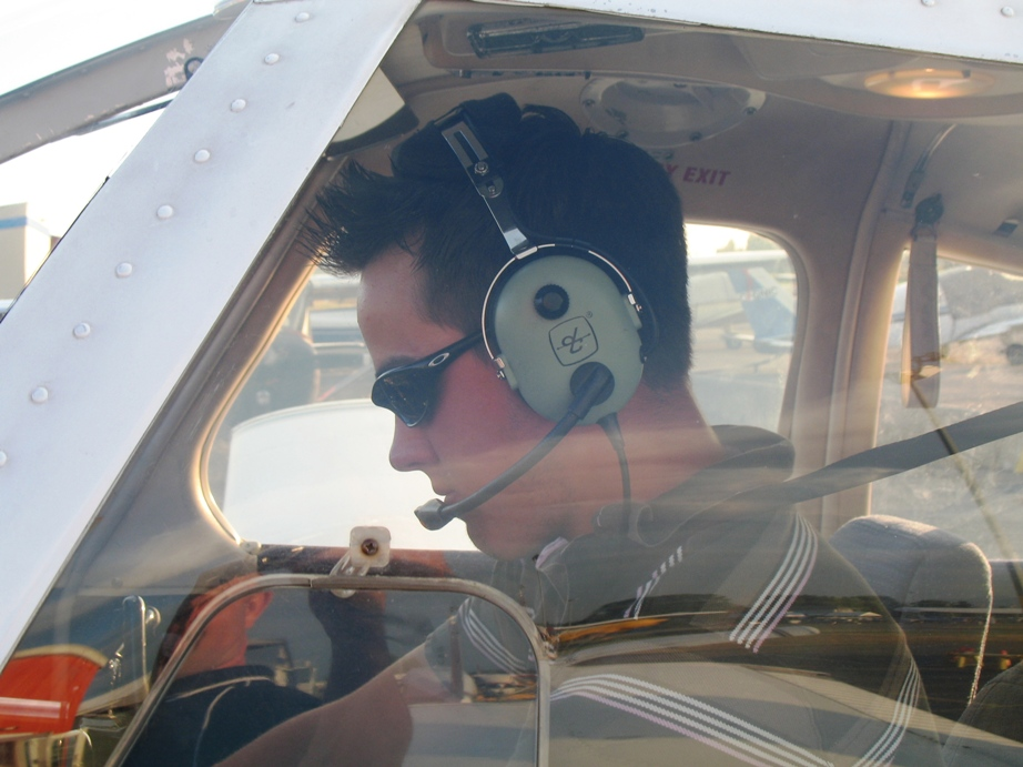 Private Pilot Student Brooklyn Anderson in the cockpit of Cherokee FKKF after completing his First Solo Flight on July 15, 2009.  Congrats to Brooklyn's Flight Instructor, Rita Methorst.