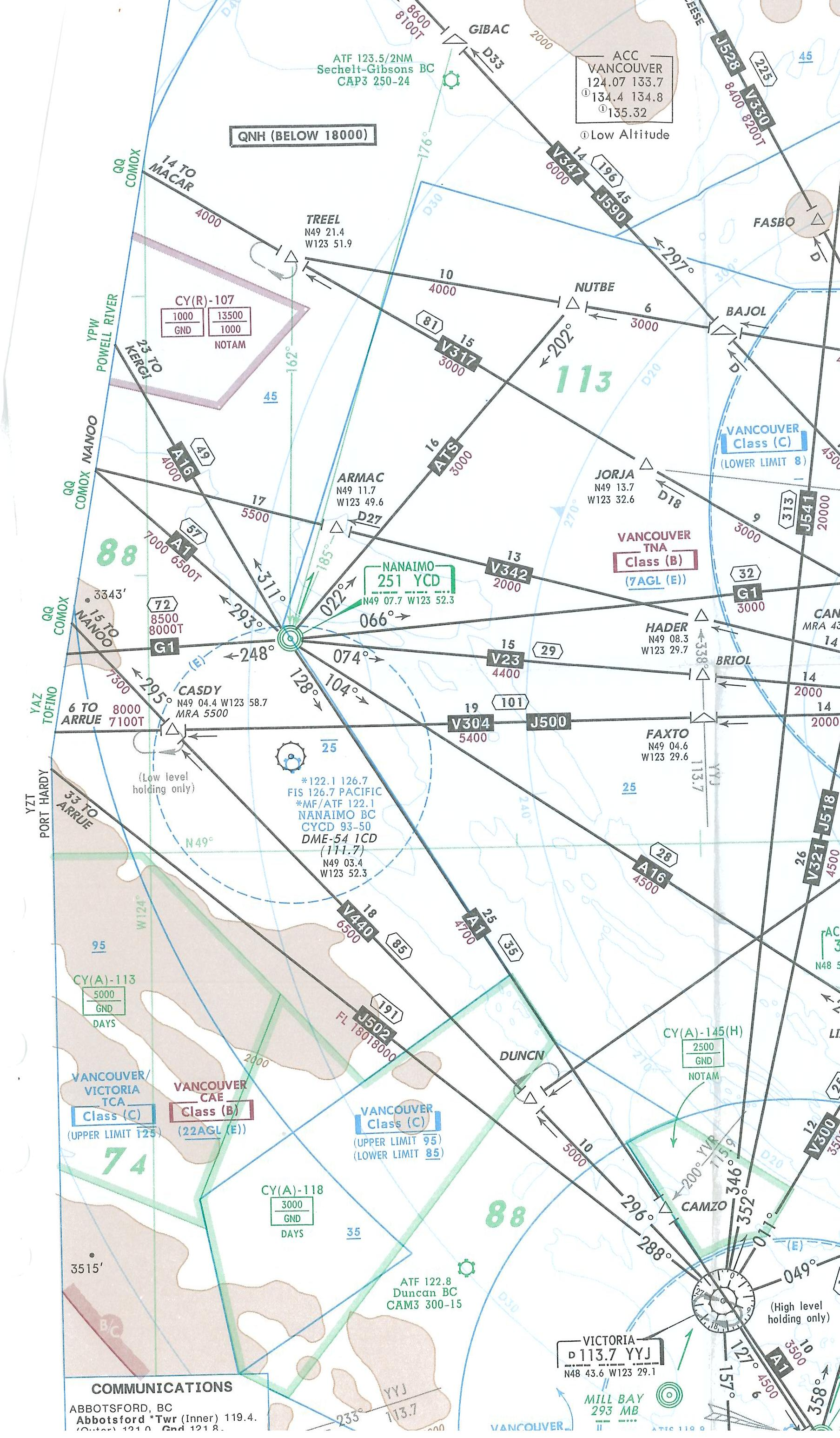Map Room, IFR Terminal Chart, Vancouver West